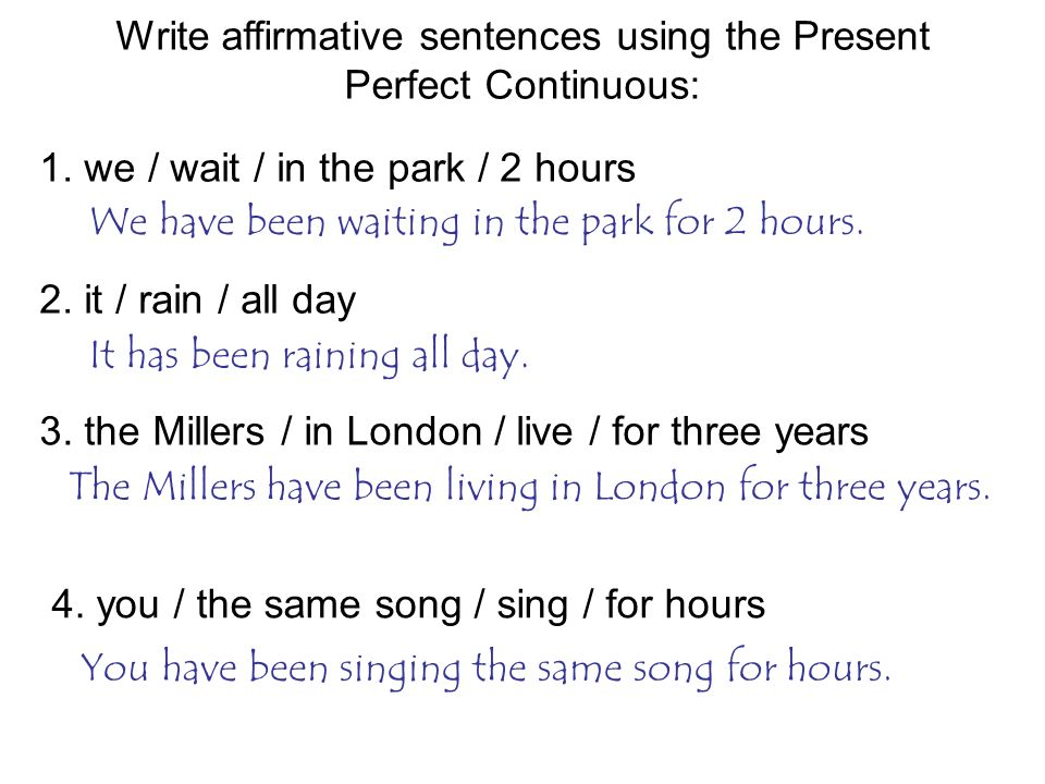 present perfect of write The present perfect progressive tense indicates a continuous action that has been finished at some point in the past or that.