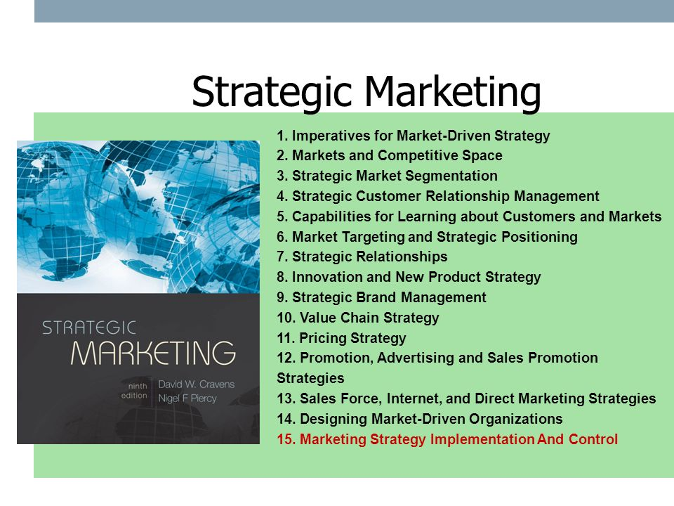 the importance of a competitive market strategy 'global strategy' is a shortened needs a strategy adapted to each market and therefore need an international strategy importantly, the competitive.