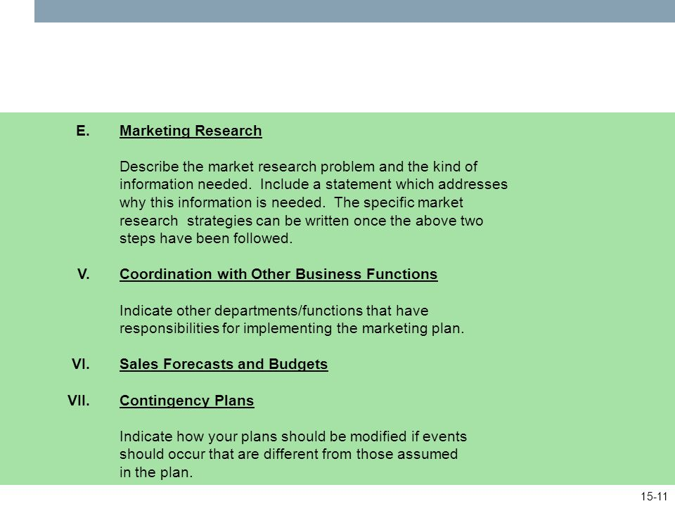 Examples of Marketing Research Problems