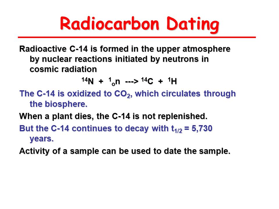 c14 dating equation