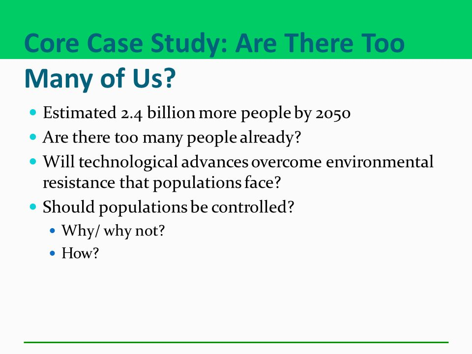 Core Case Study: Are There Too Many of Us