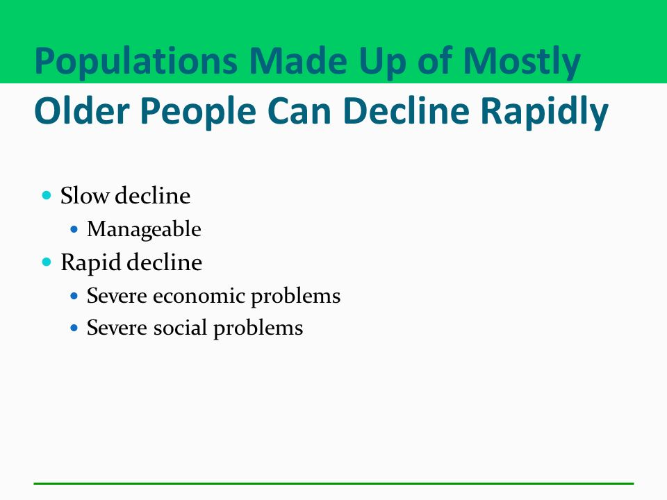 Populations Made Up of Mostly Older People Can Decline Rapidly