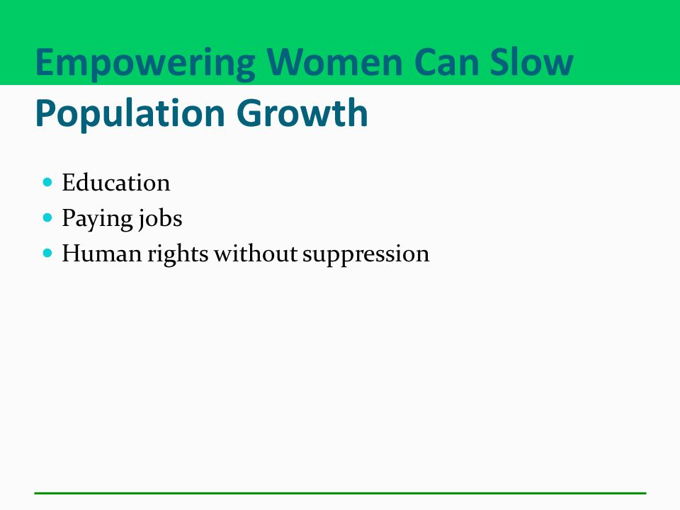 Empowering Women Can Slow Population Growth