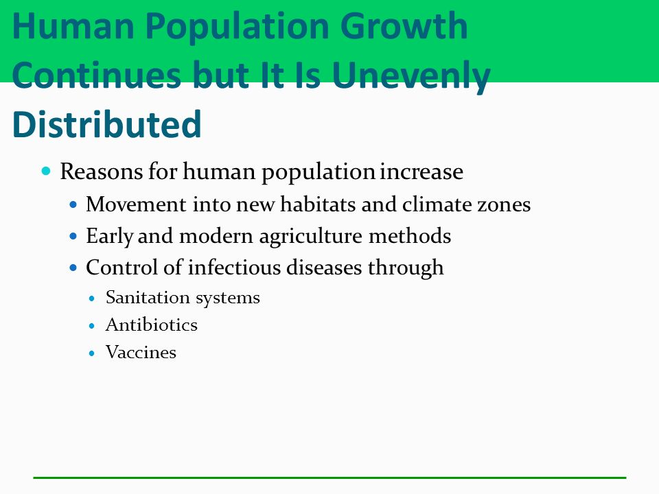 Human Population Growth Continues but It Is Unevenly Distributed
