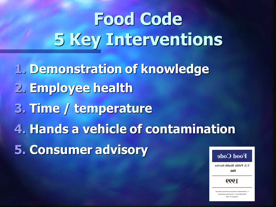 Food Code 5 Key Interventions