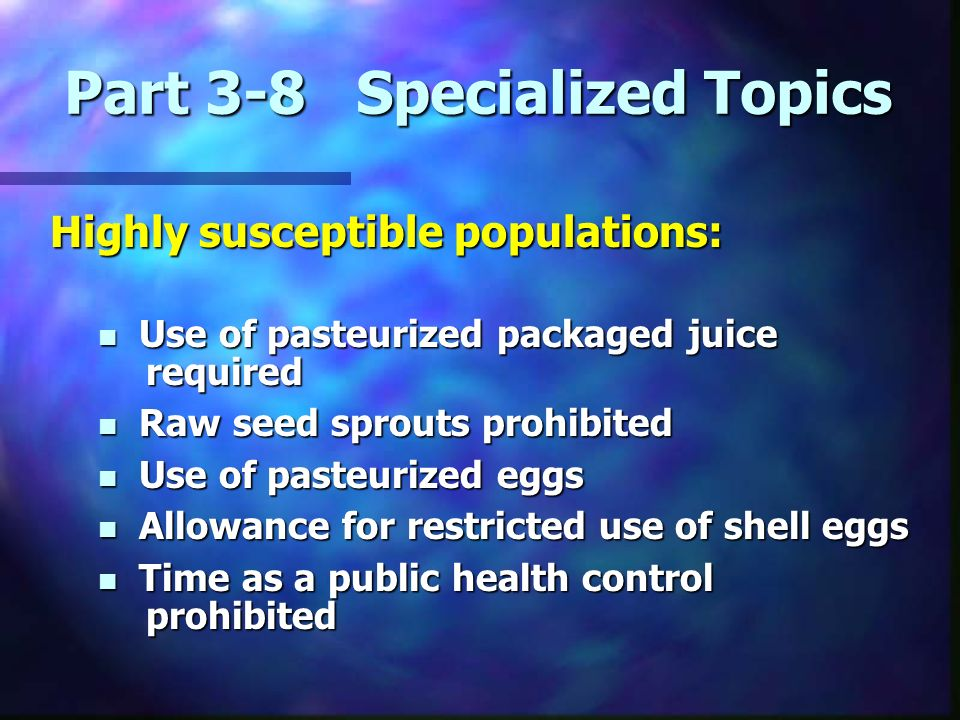 Part 3-8 Specialized Topics