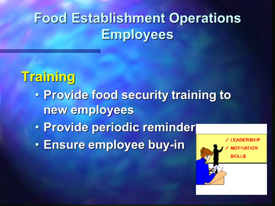 Food Establishment Operations Employees