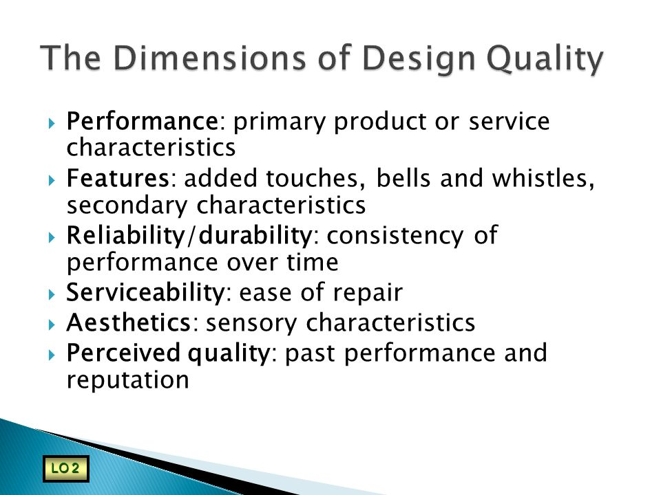The Dimensions of Design Quality
