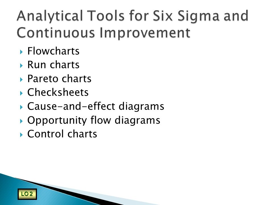 Analytical Tools for Six Sigma and Continuous Improvement
