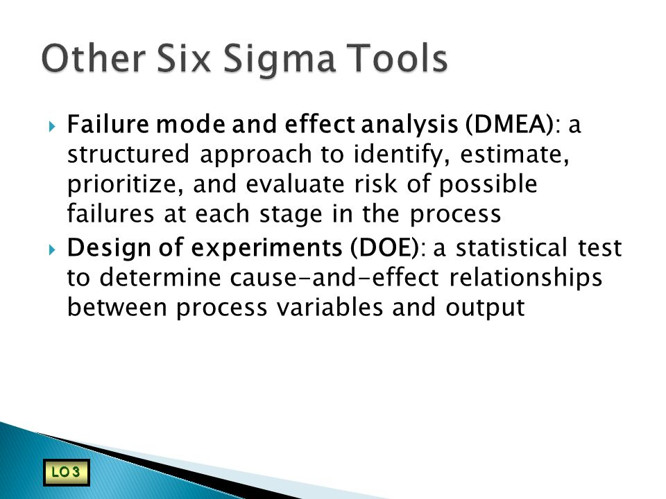 Other Six Sigma Tools