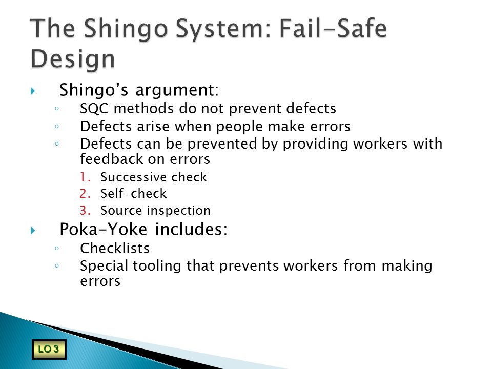 The Shingo System: Fail-Safe Design