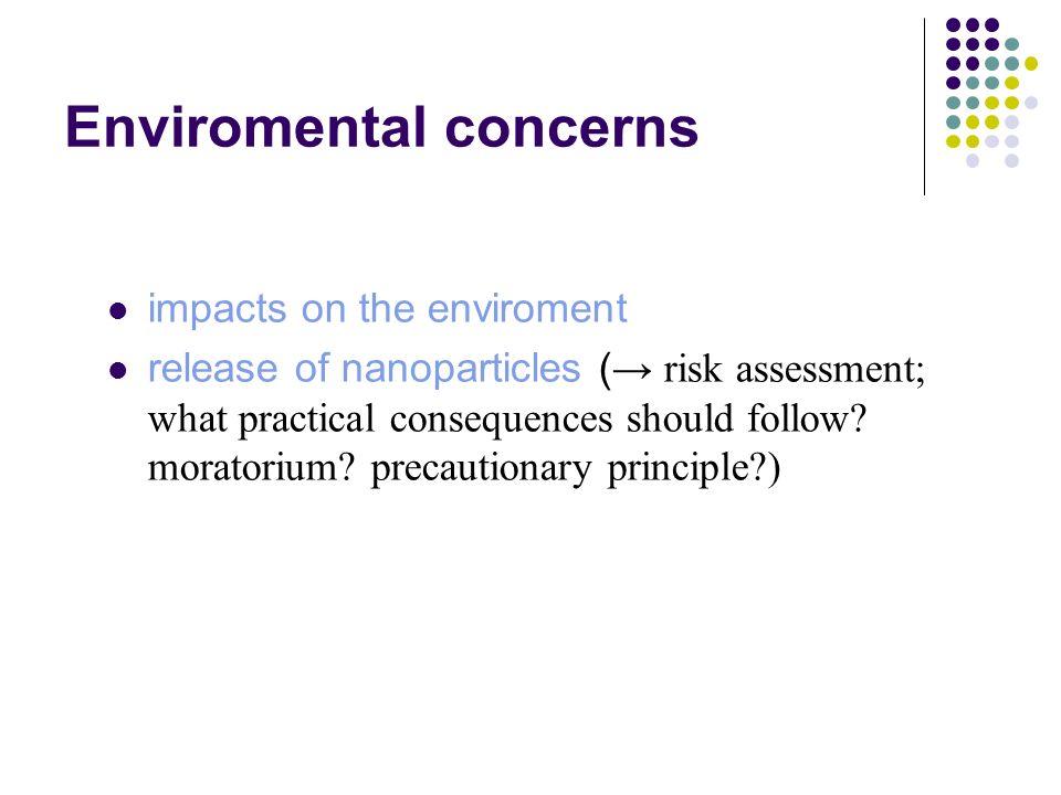 Enviromental concerns