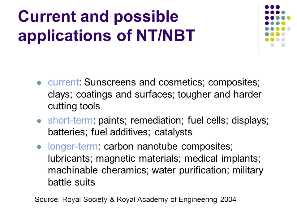 Current and possible applications of NT/NBT