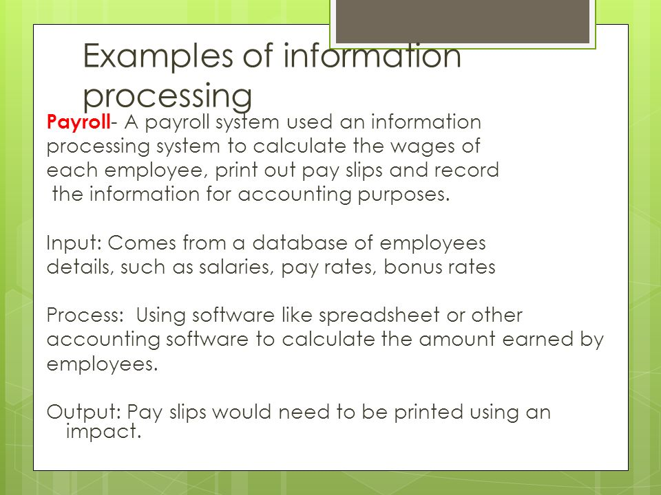 Information Processing Ppt Video Online Download