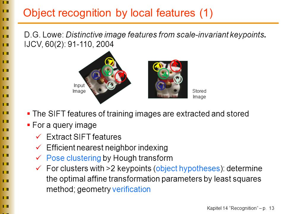 Object recognition by local features (1)
