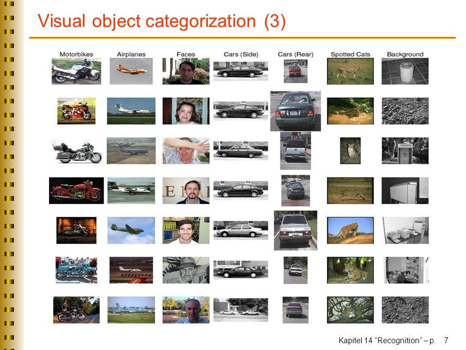 Visual object categorization (3)