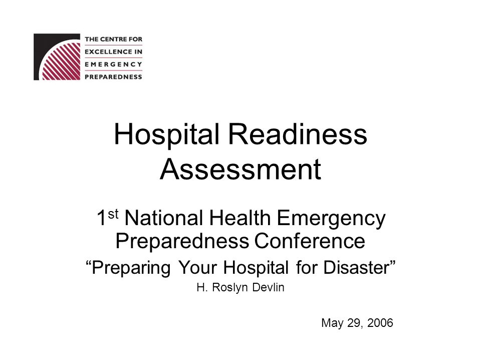 Hospital Readiness Assessment