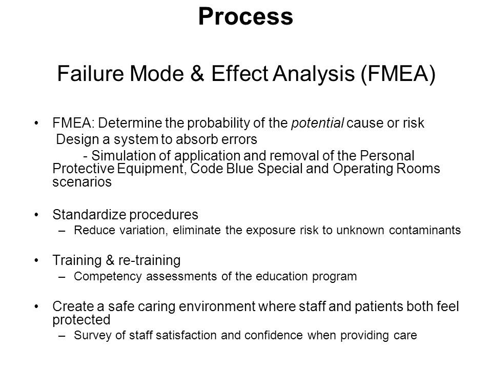 Process Failure Mode & Effect Analysis (FMEA)