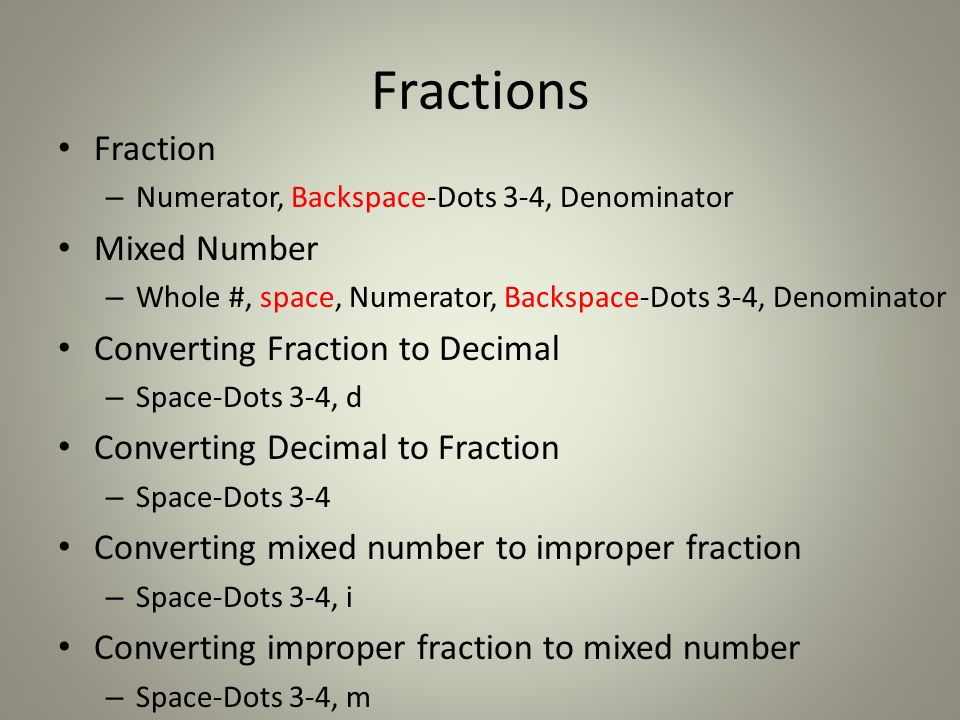 on scientific calculator how to change from fraction to decimal