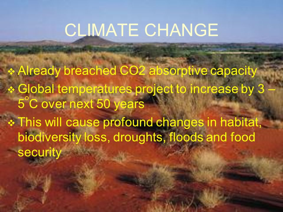 CLIMATE CHANGE Already breached CO2 absorptive capacity