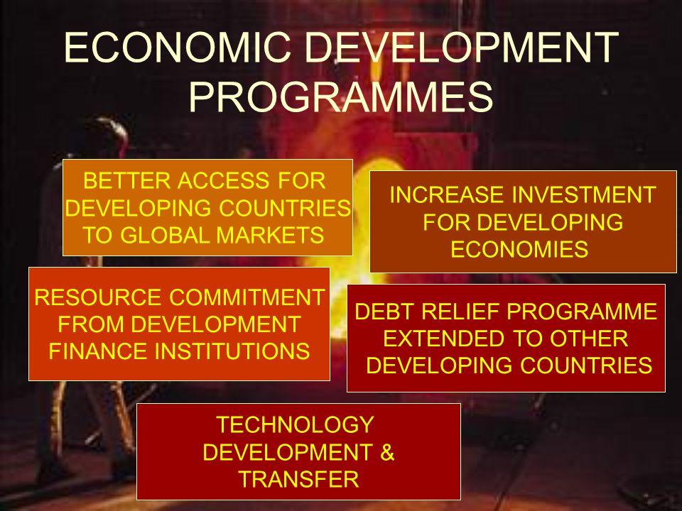 ECONOMIC DEVELOPMENT PROGRAMMES