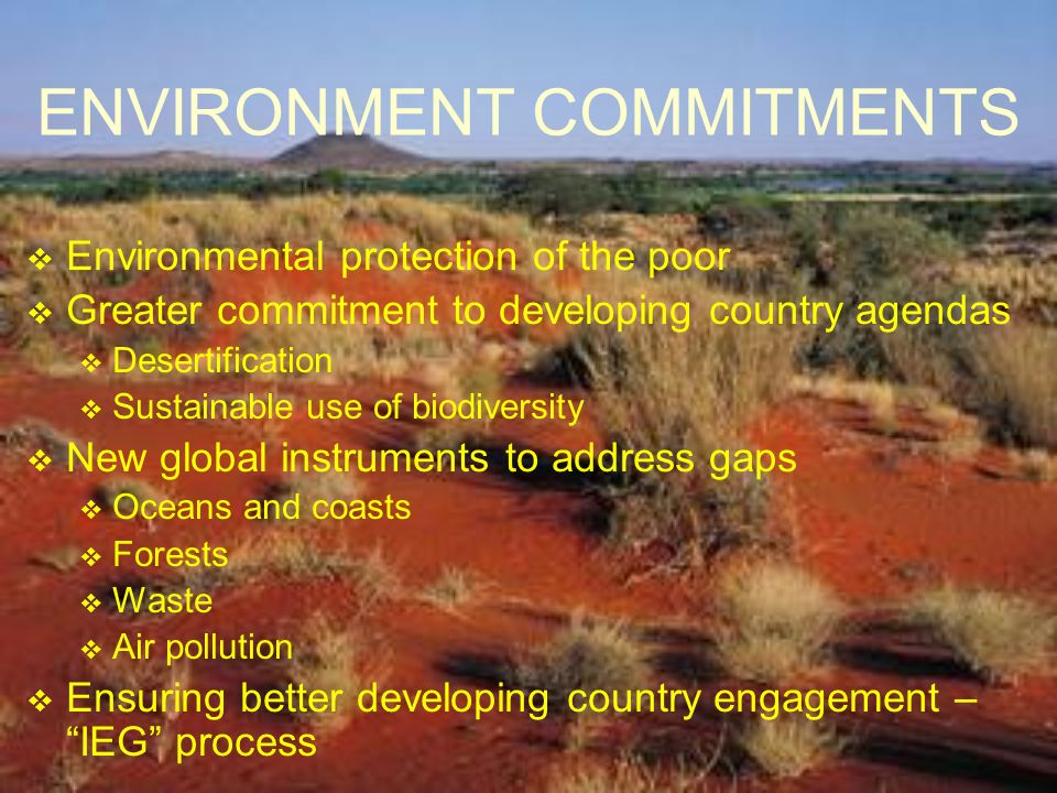 ENVIRONMENT COMMITMENTS