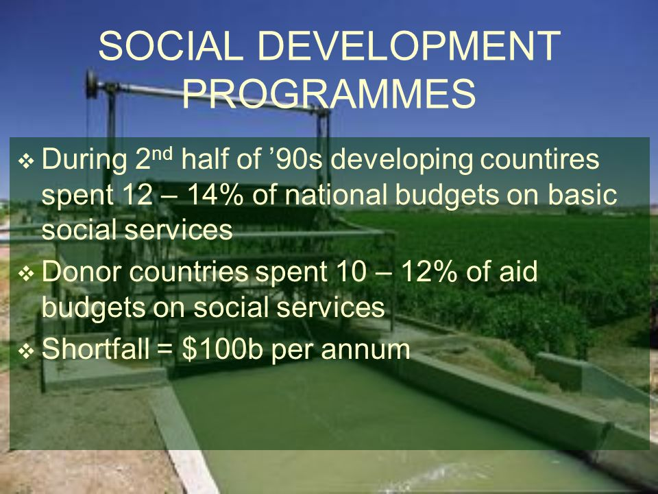 SOCIAL DEVELOPMENT PROGRAMMES