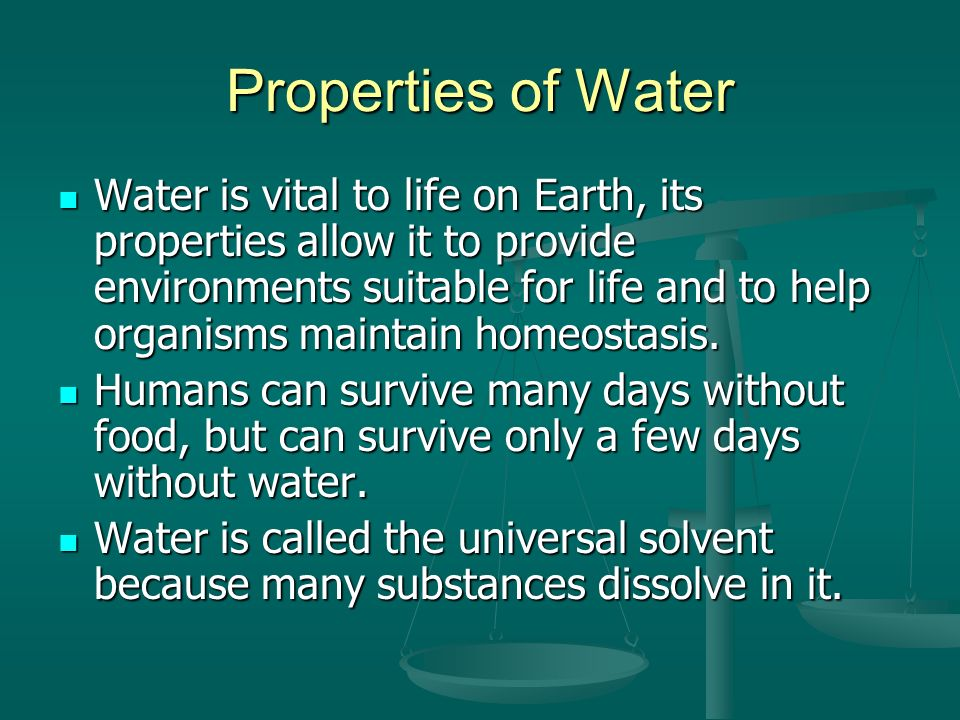 properties of life on earth Origin and evolution of earth retained the unique properties—such as the presence of water—that about the emergence of life on earth.