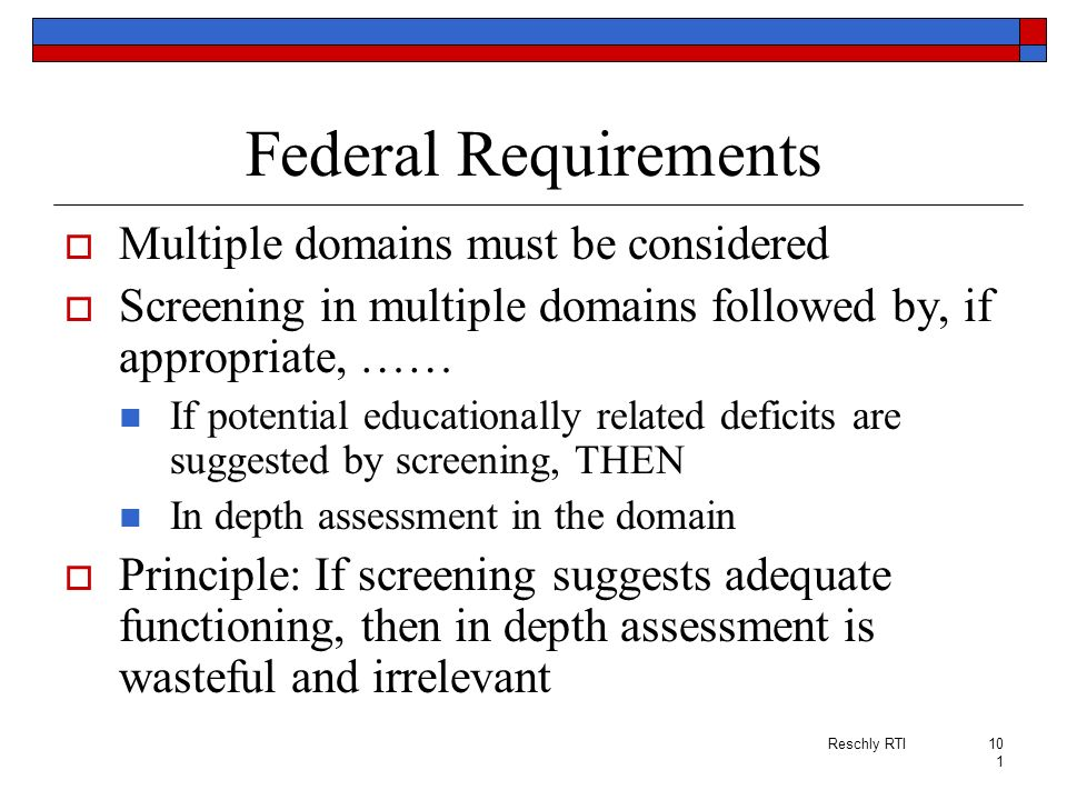 Federal Requirements Multiple domains must be considered
