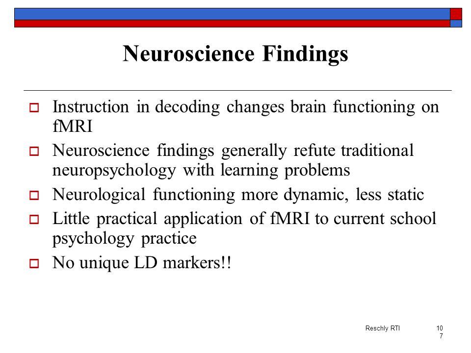 Neuroscience Findings