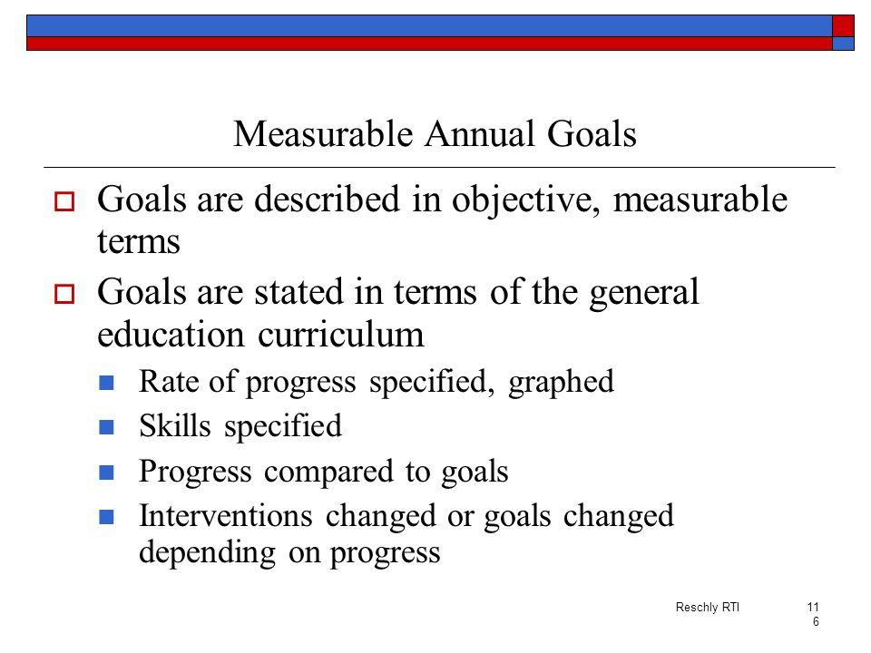 Measurable Annual Goals