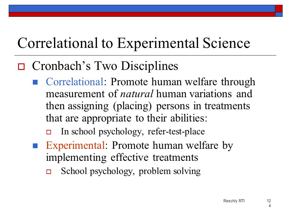Correlational to Experimental Science