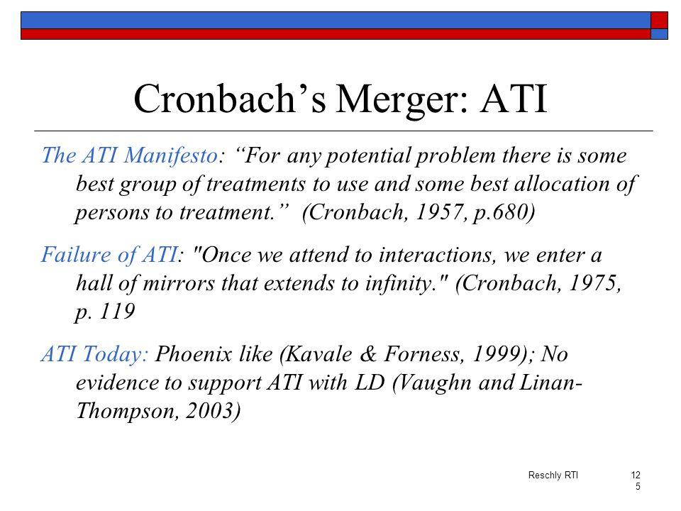 Cronbach's Merger: ATI