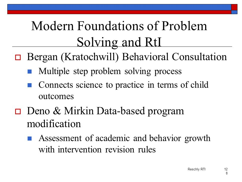 Modern Foundations of Problem Solving and RtI