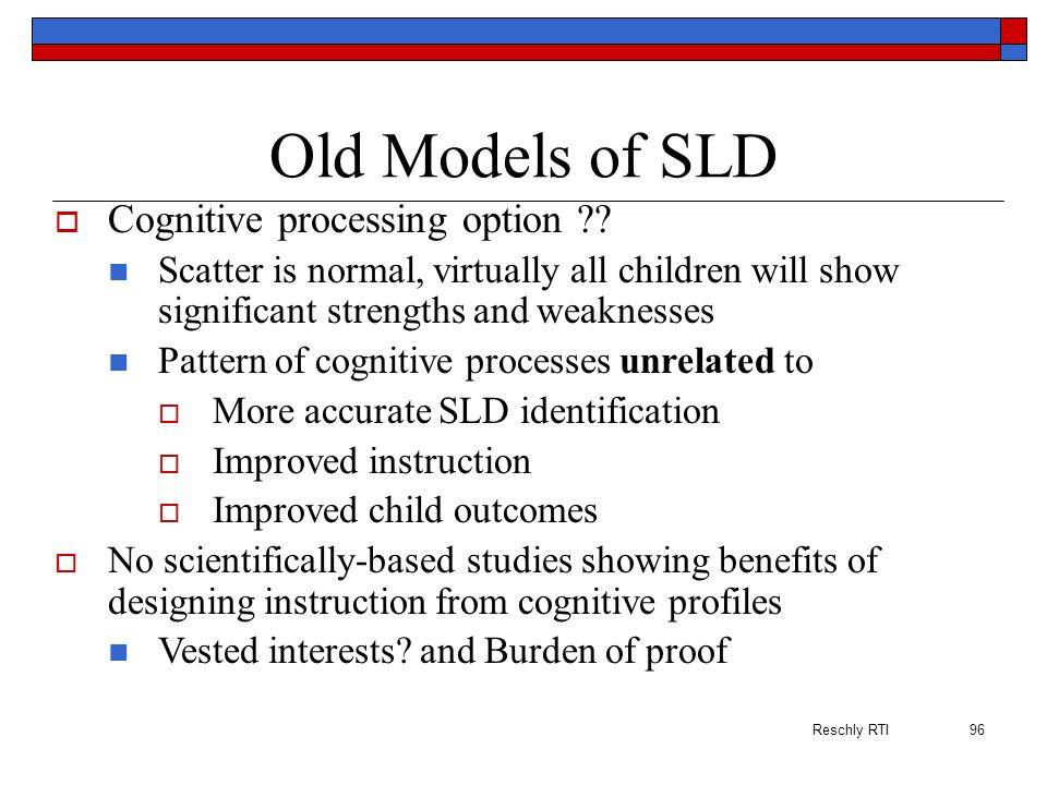 Old Models of SLD Cognitive processing option