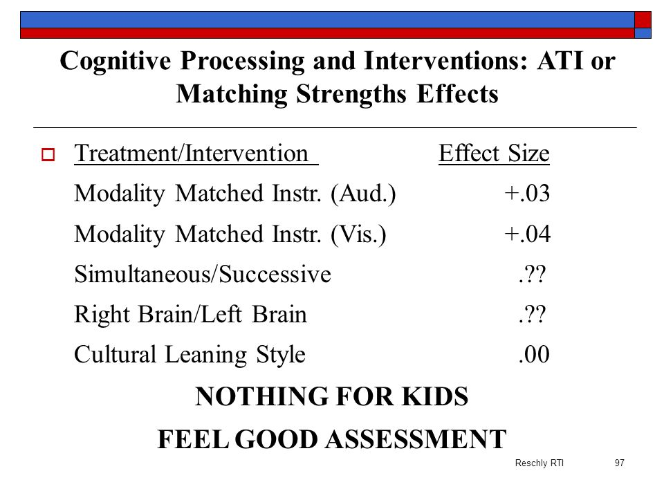 Cognitive Processing and Interventions: ATI or Matching Strengths Effects