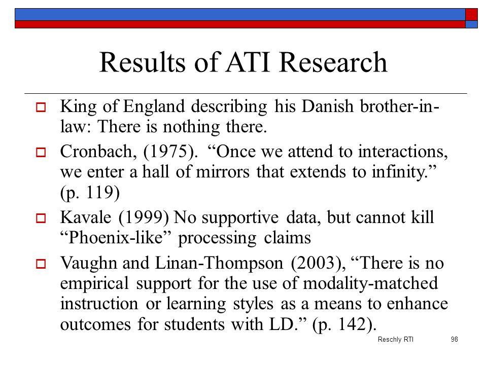 Results of ATI Research