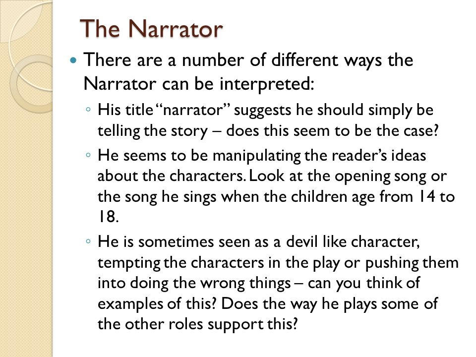 the narrator in blood brothers essay Free essay: the role of the narrator in blood brothers the play, blood brothers,  written by willy russell, is a very interesting play it is about a mother.