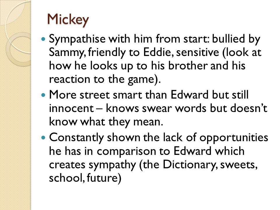 blood bros mickey quotes