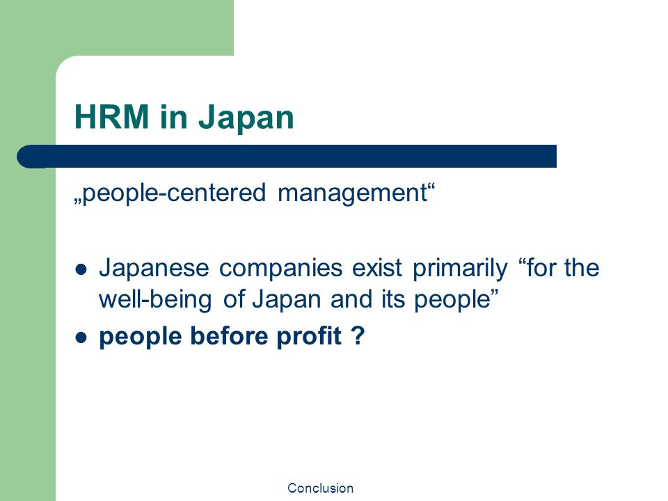 hrm in western Japanese-style versus american-style human resource management overseas: not as different as we think this paper first provides an overview of the existing literature documenting contrasts between human resource management practices in japanese and western firms then we present the results of a.