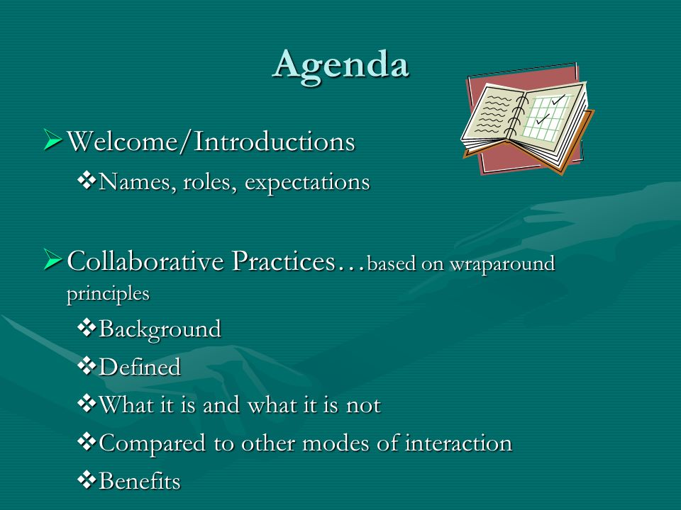 Agenda Welcome/Introductions