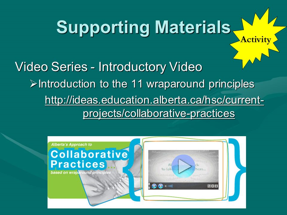 Supporting Materials Video Series - Introductory Video