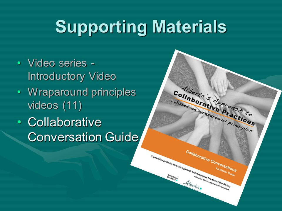 Supporting Materials Collaborative Conversation Guide
