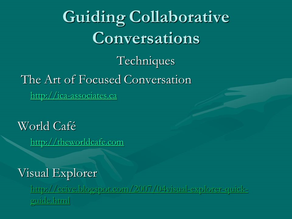 Guiding Collaborative Conversations