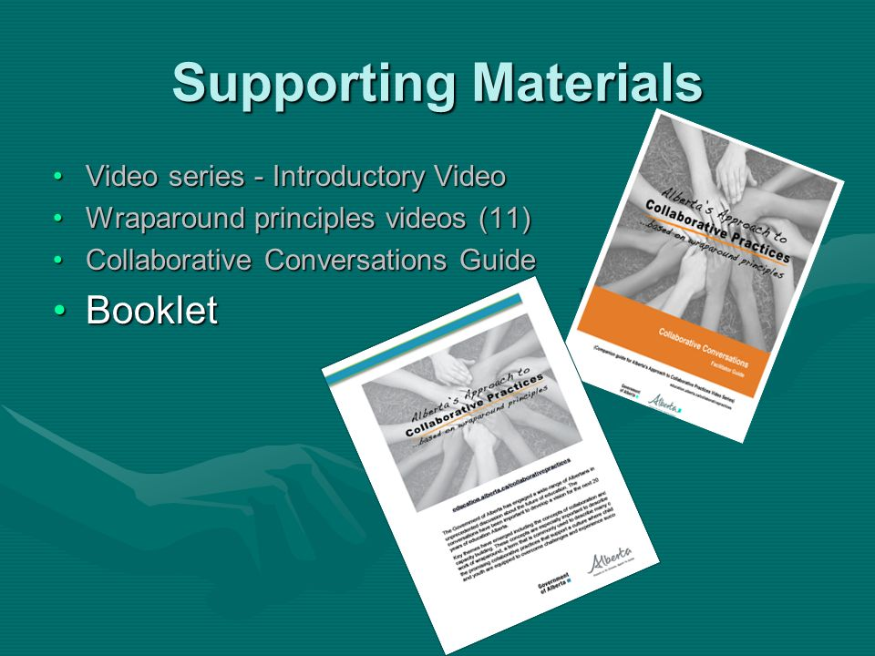 Supporting Materials Booklet Video series - Introductory Video