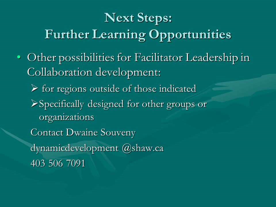 Next Steps: Further Learning Opportunities