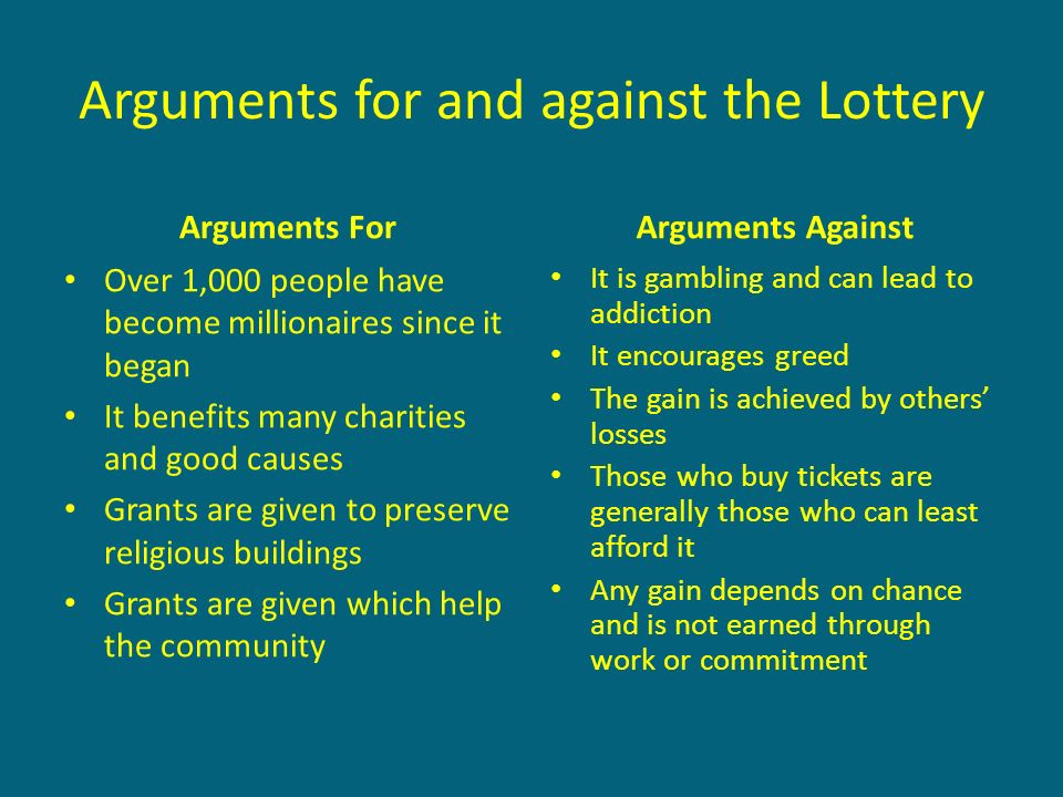 Gambling arguments against