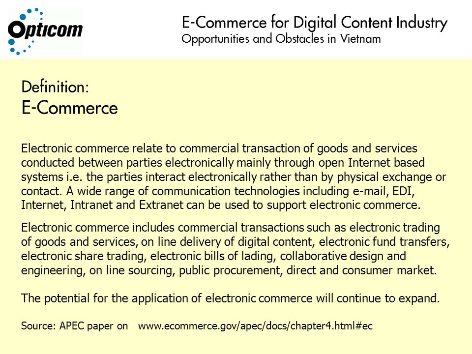 Electronic trading system definition