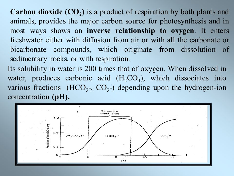 relationship between co2 level and ph of a solution
