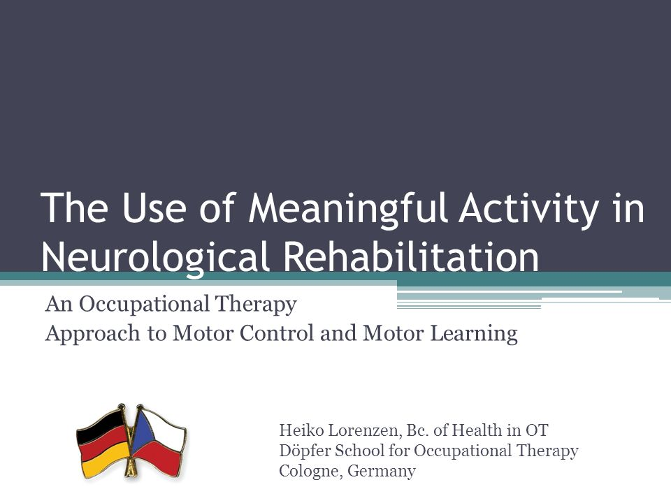 motor learning in occupational therapy